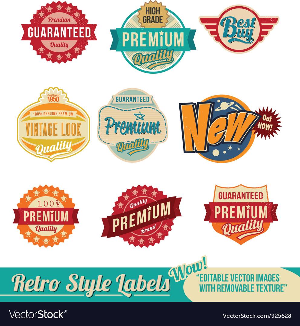 Retro vintage label badge set
