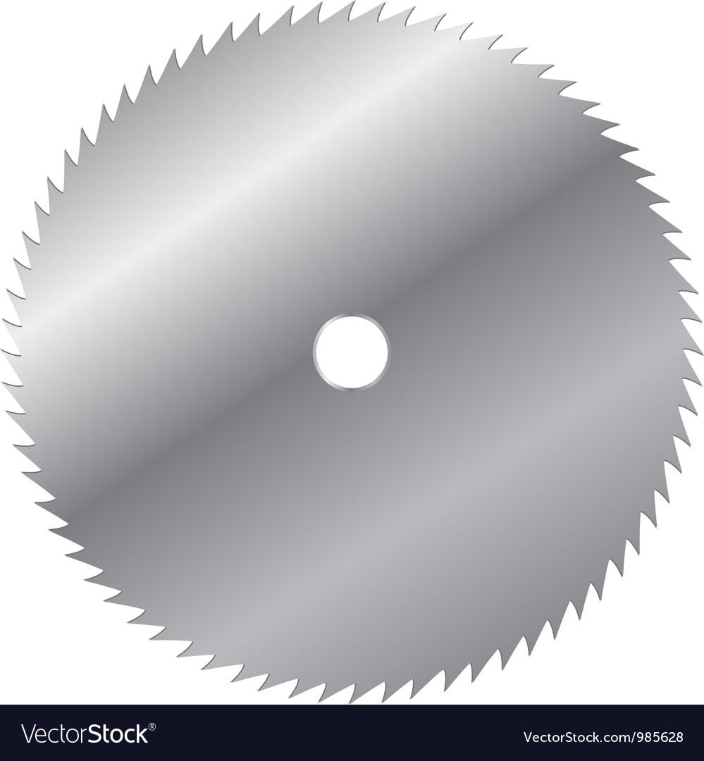 Saw blade vector image