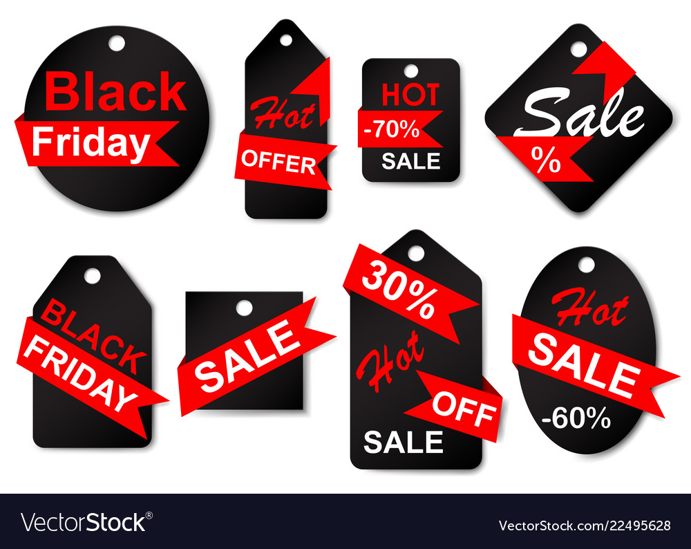 Set of sale labels and tags