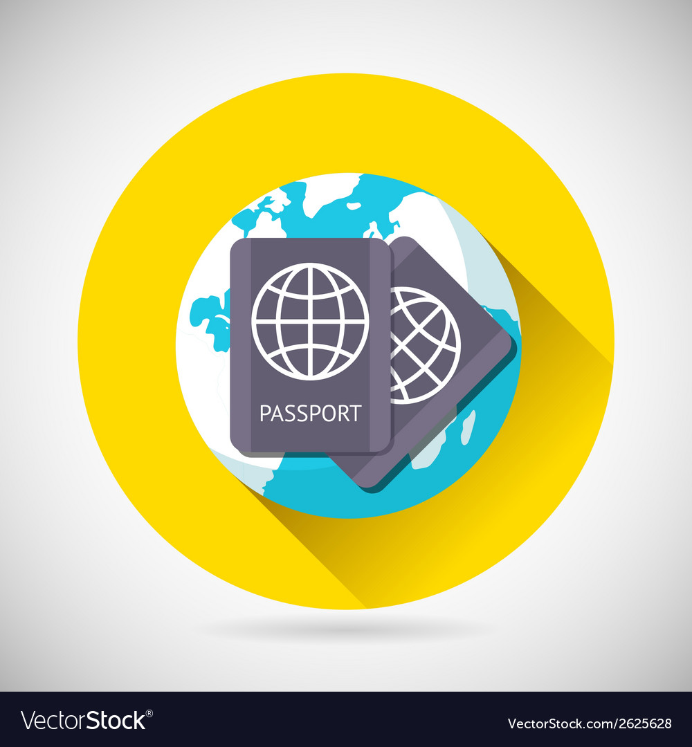 World Trip Symbol International Passport Earth