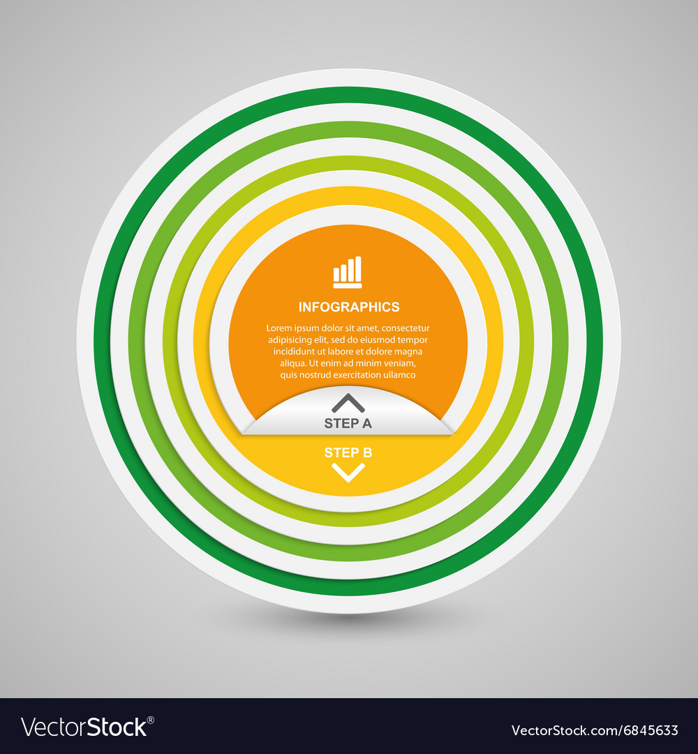 Abstract 3D circle paper options infographics