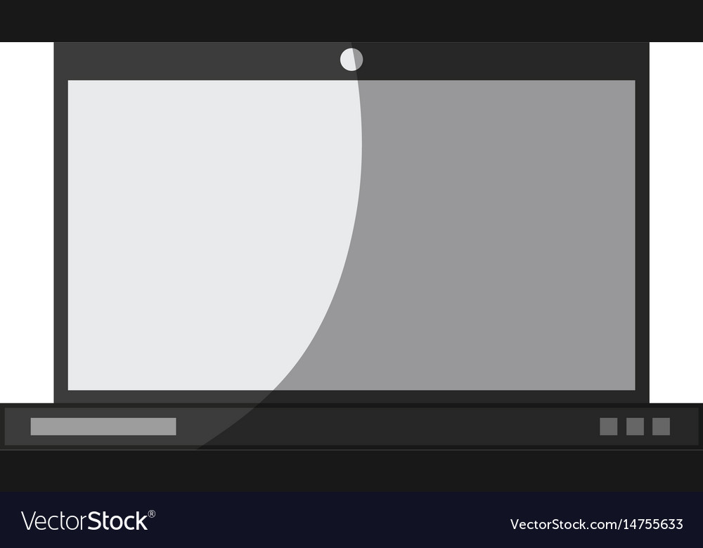 Blank screen computer icon image
