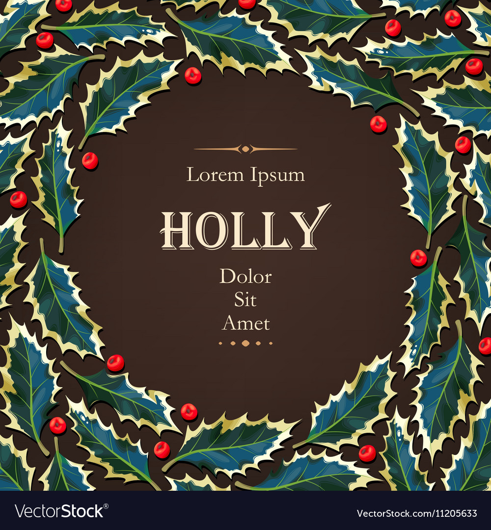 Card with holly