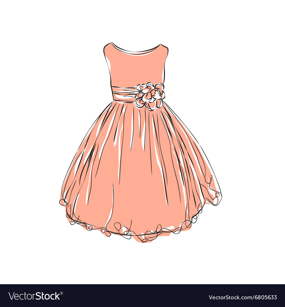 Dress for little girls vector image