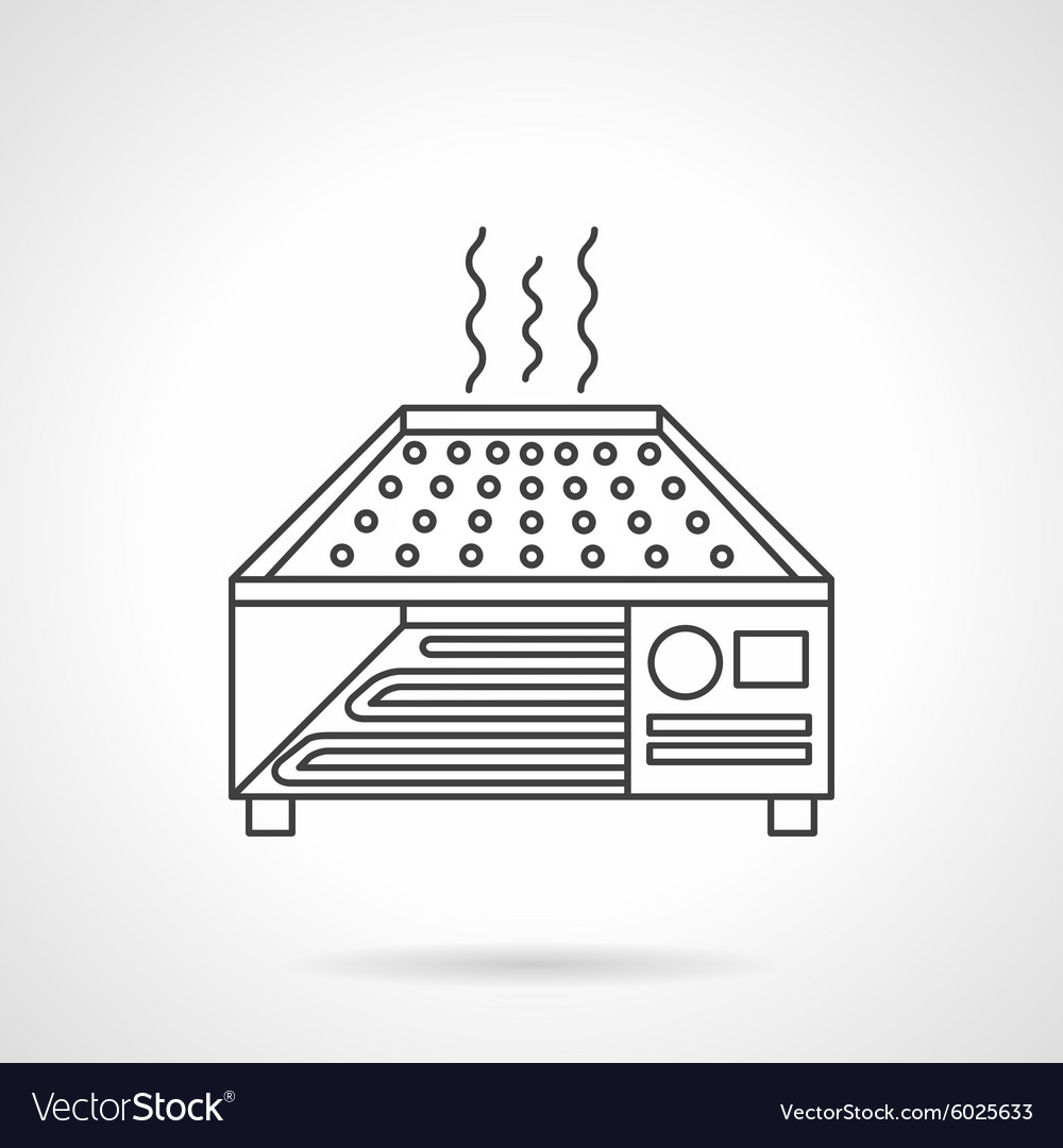 Dryer oven flat line icon vector image