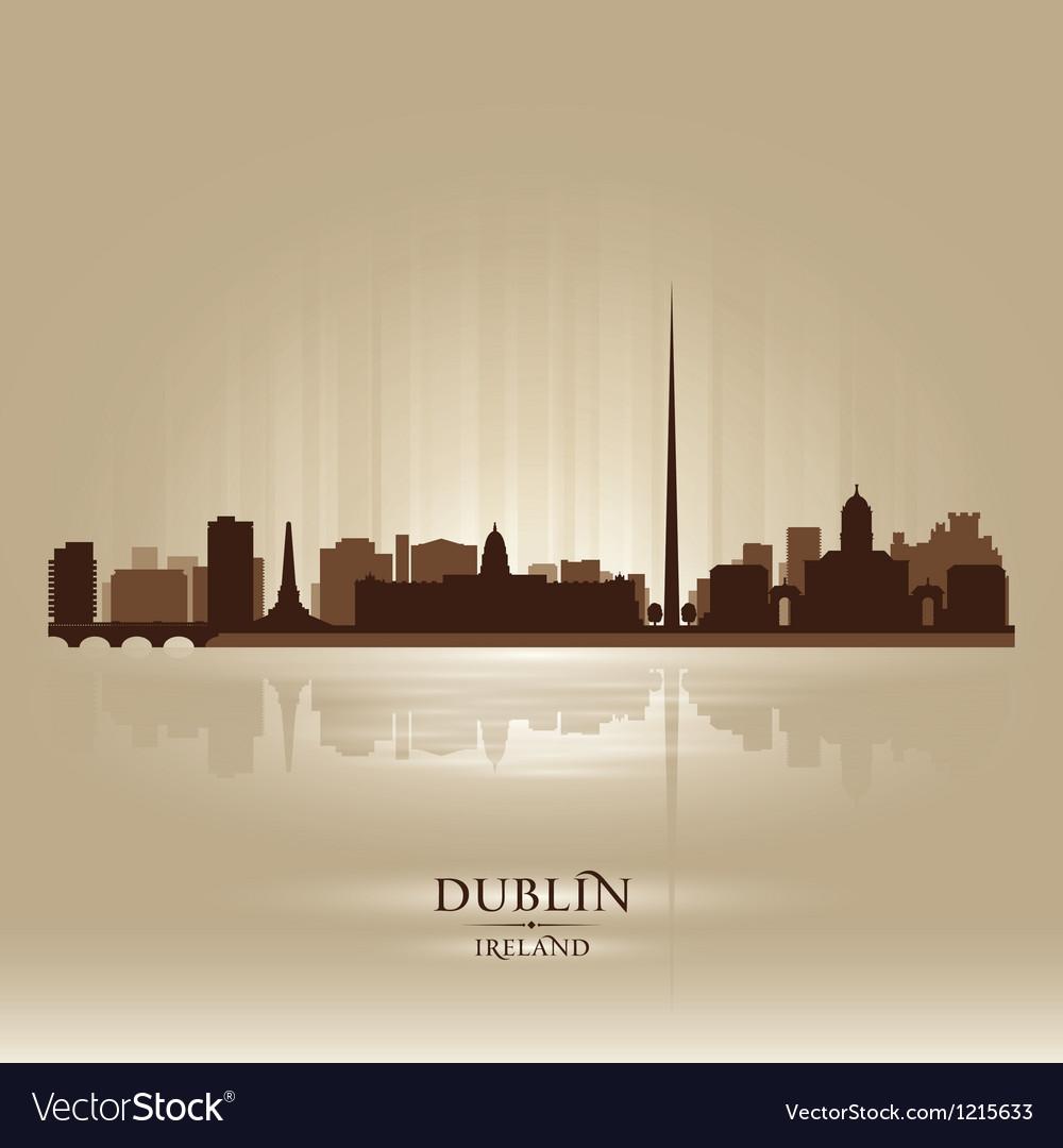 Dublin Ireland skyline city silhouette vector image