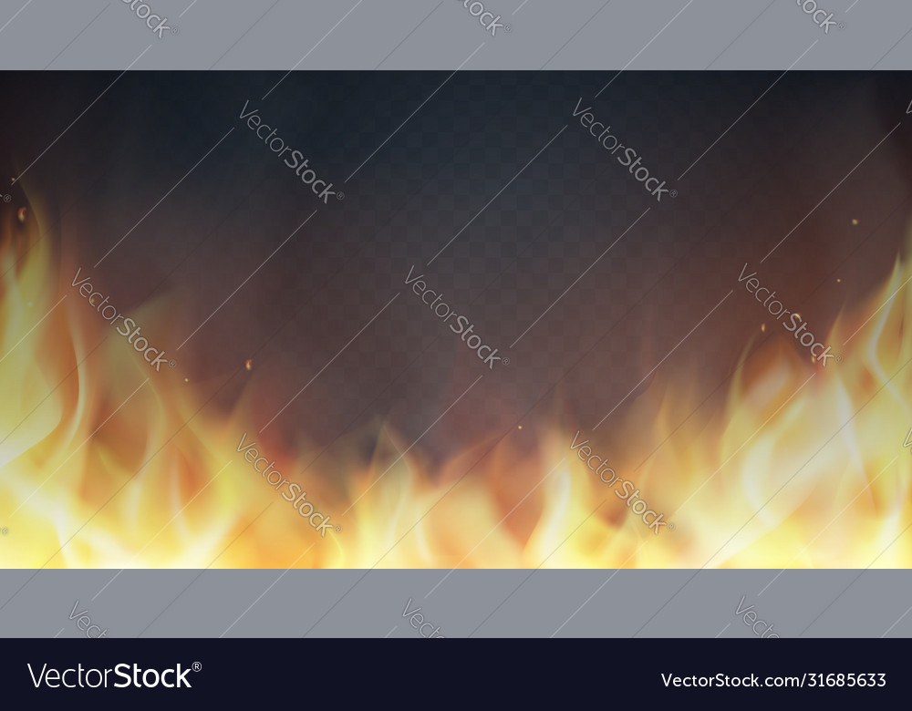 Fire flames on transparent background