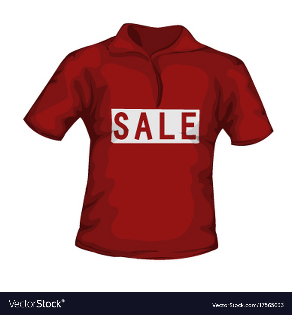 Front view of red color male t-shirt with sale
