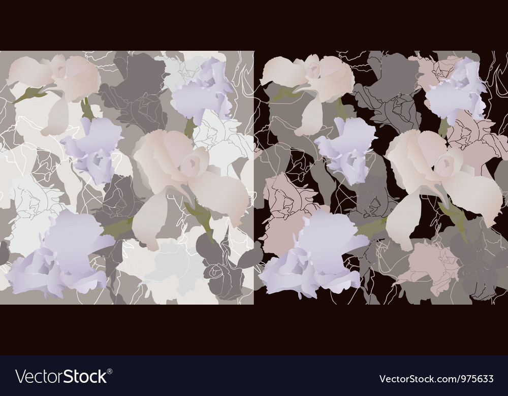 Irises seamless vector image