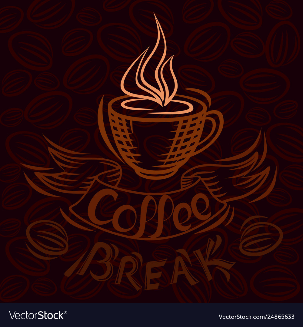 Lettering hand drawing theme coffee