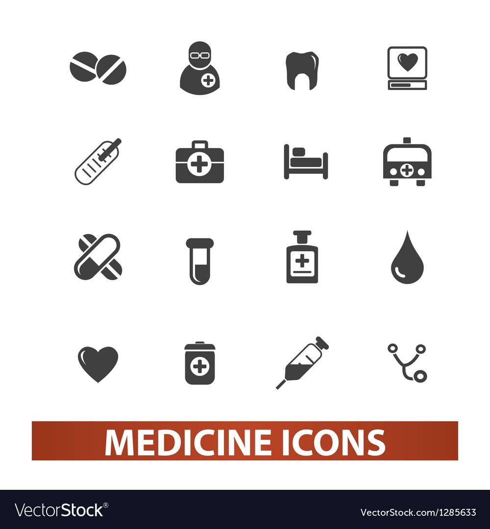 Medicine health icons set