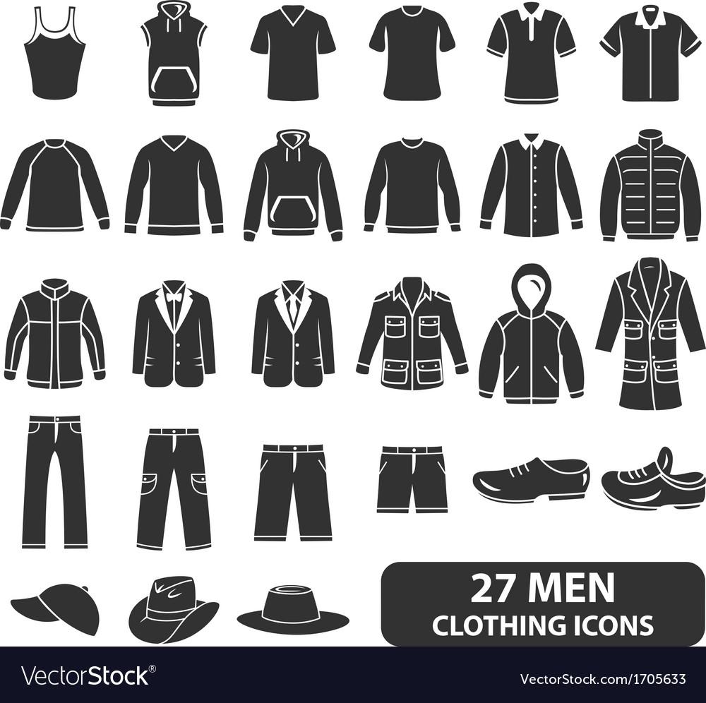 Men Clothing Icons