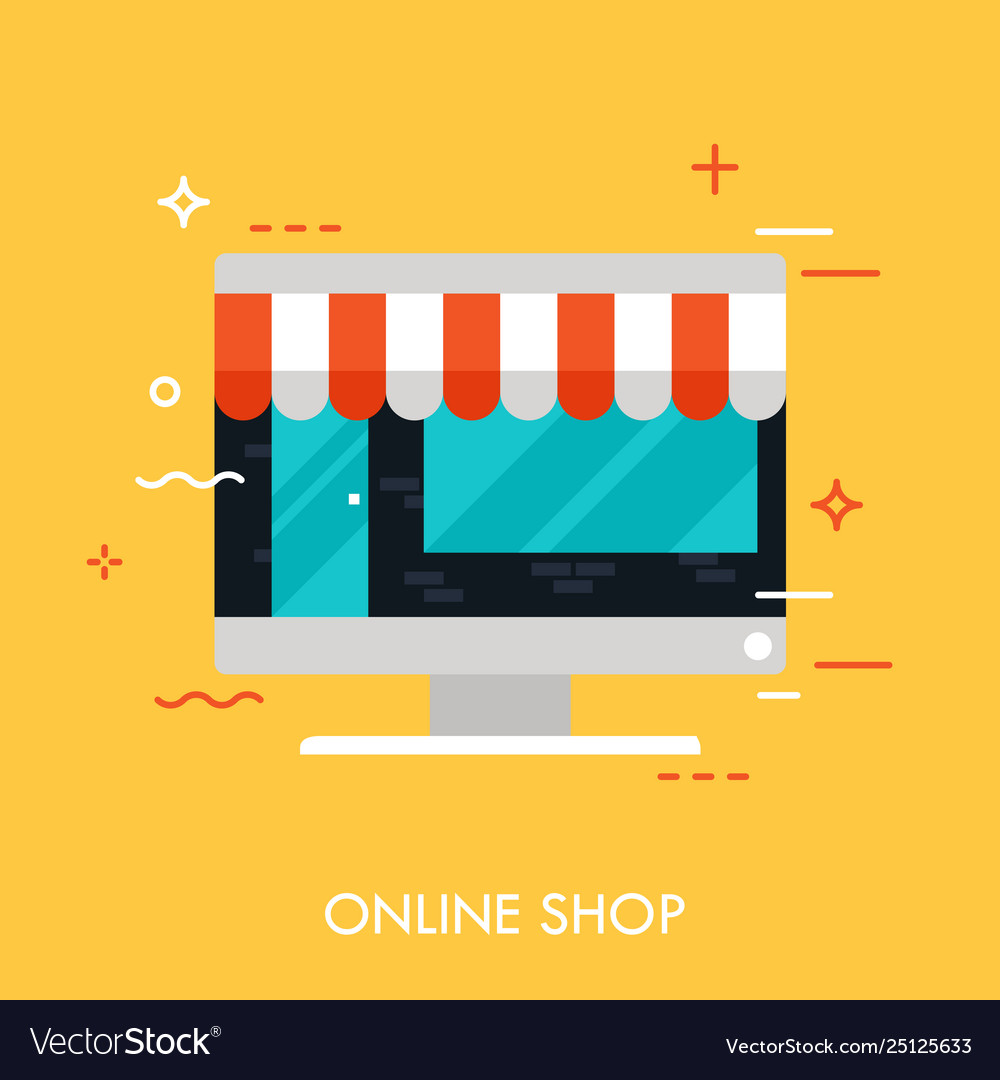 Online shop concept vector