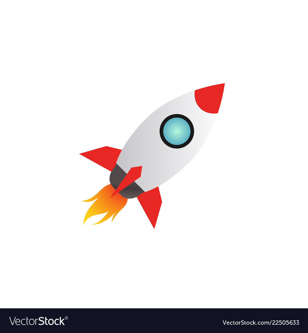 Rocket launch logo icon design template