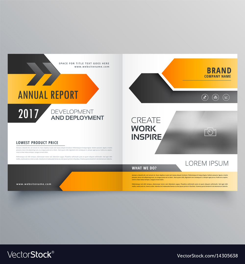 Annual Report Booklet Brochure Template Design Vector Image