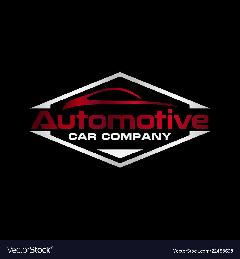 Automotive logo icon design template