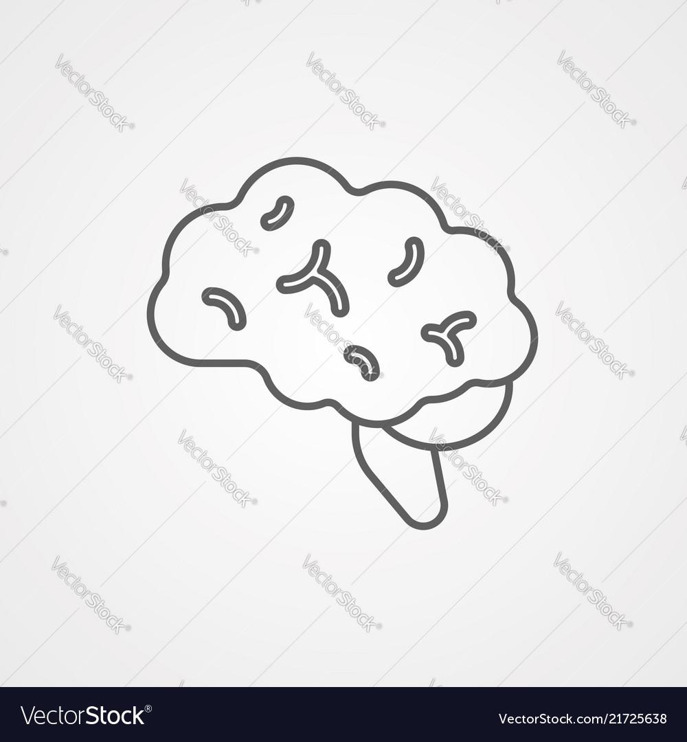 Brain icon sign symbol