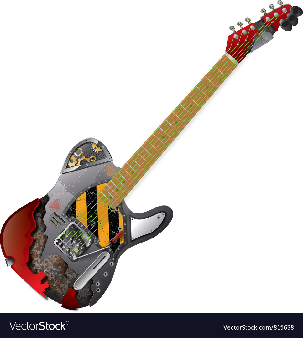 Guitar Frankenstein vector image