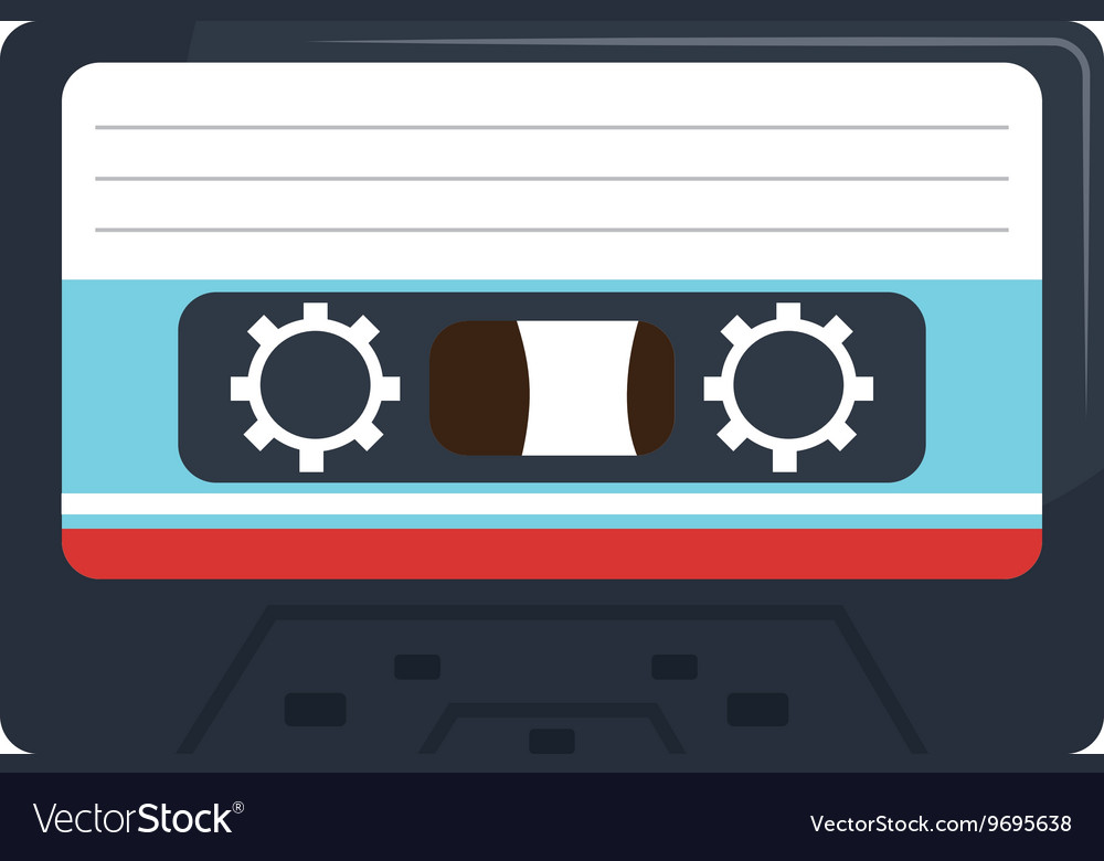 Stereo cassette isolated flat icon