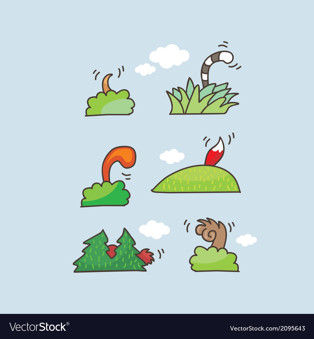 animal tails set royalty free vector image vectorstock