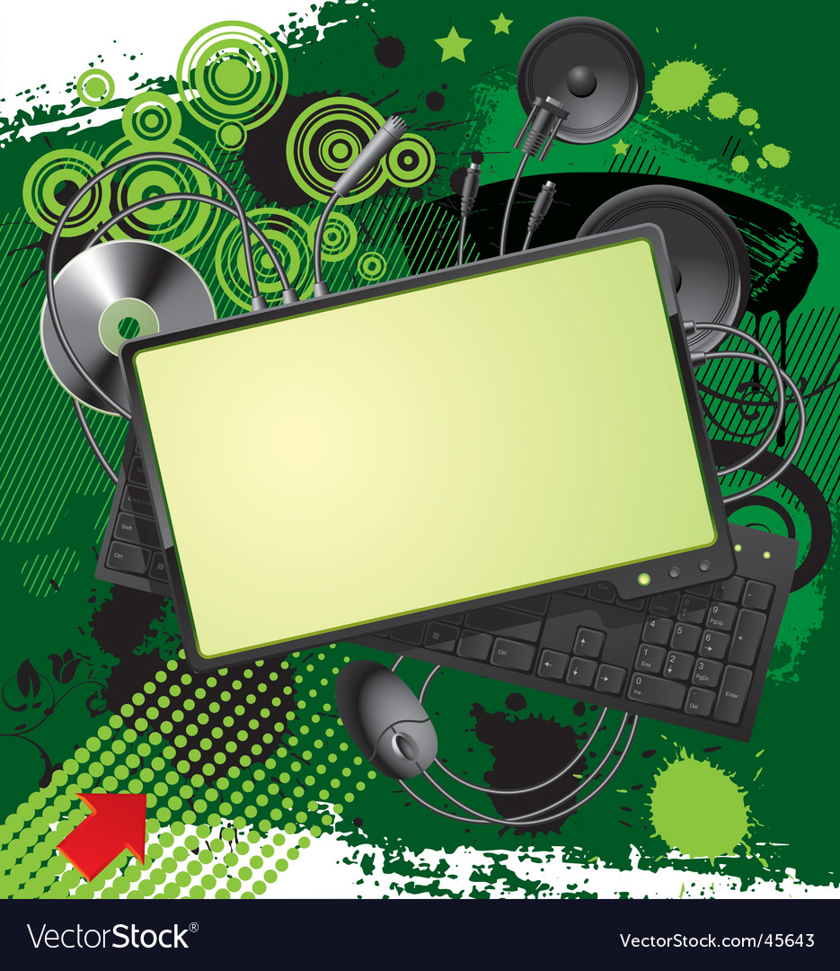Computer equipment and banner vector image