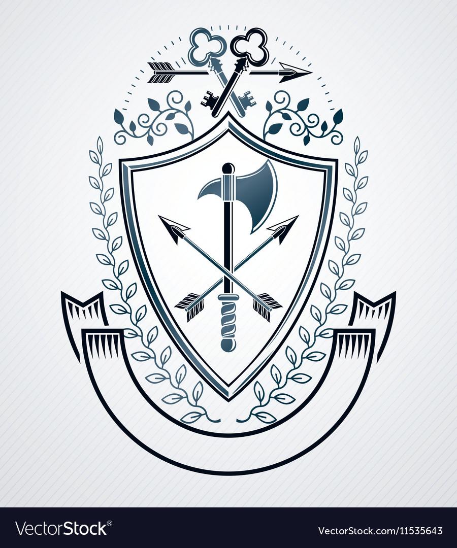 Emblem vintage heraldic design