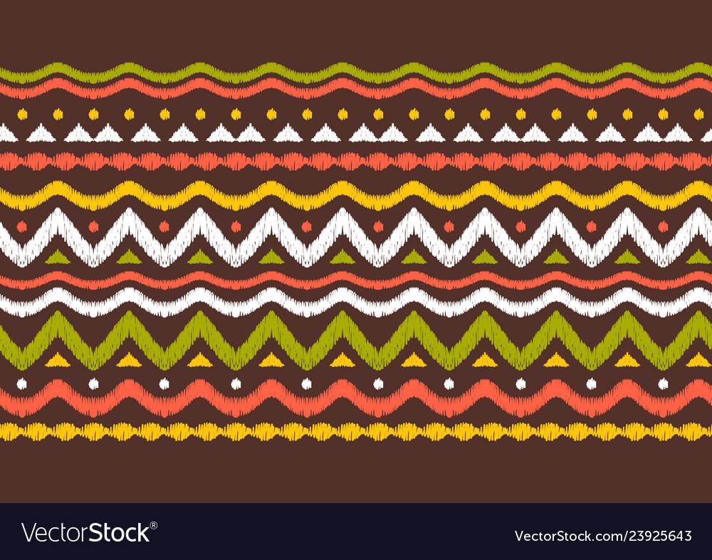 Ikat geometric folklore pattern