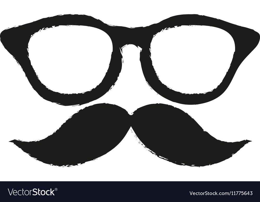 isolated hipster glasses and mustache design vector imageMustache Design Pictures #4