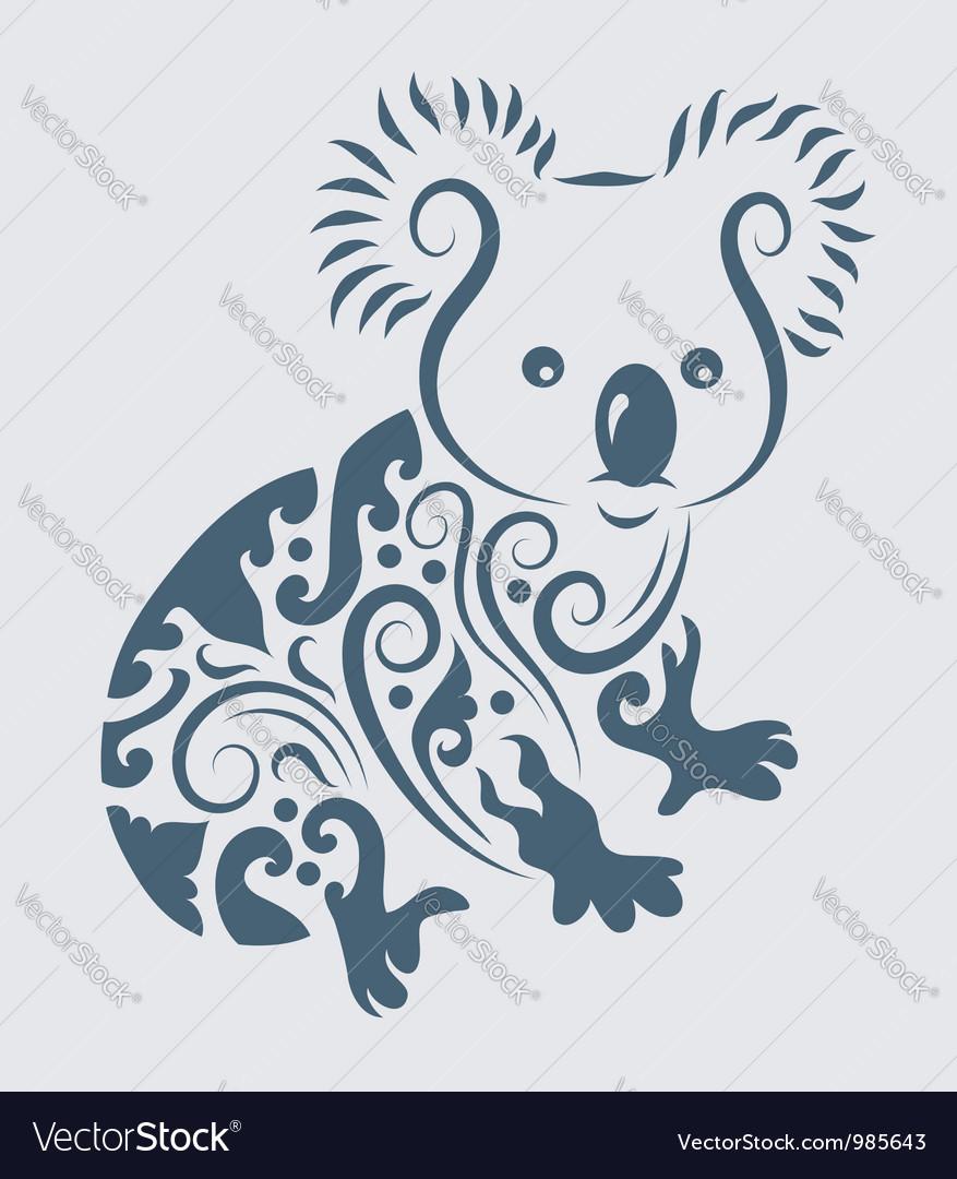 Koala ornament vector image
