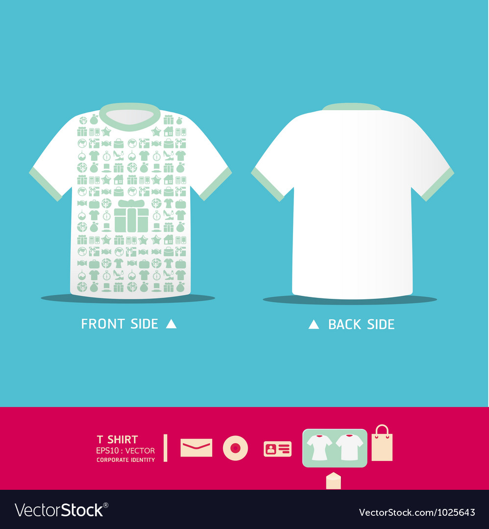 df930b81 Modern soft color t-shirt design Royalty Free Vector Image