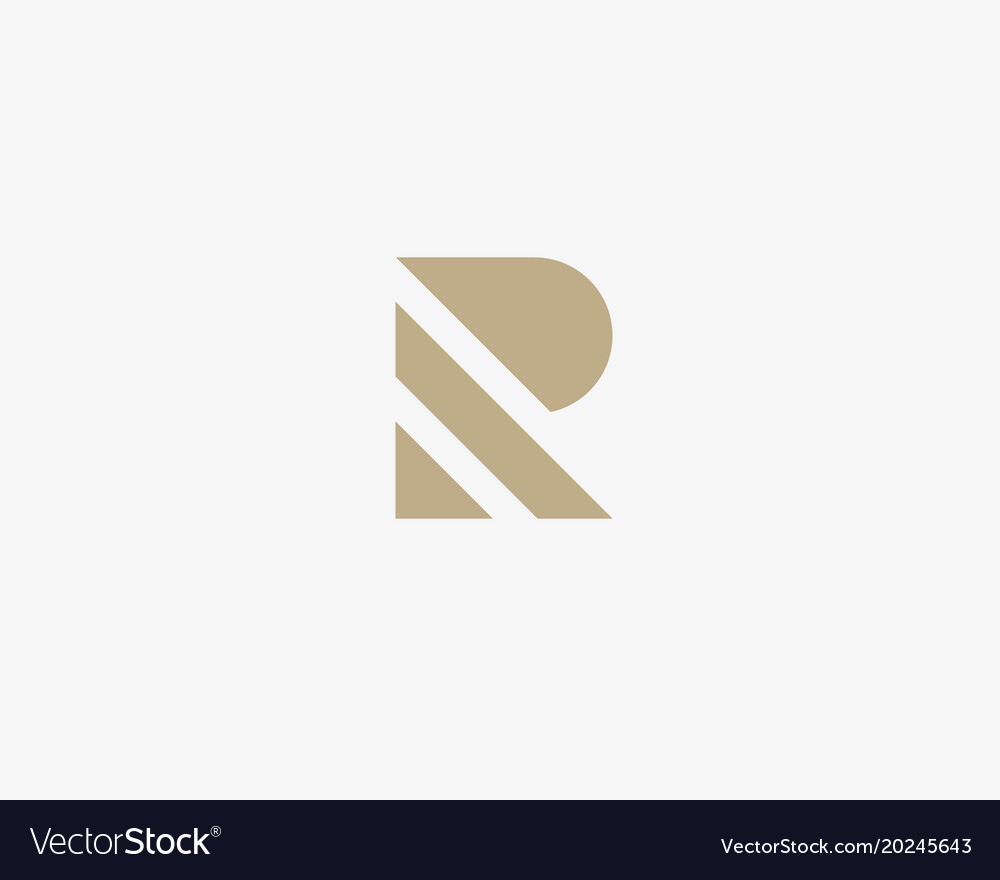 Stripes letter r logotype creative abc