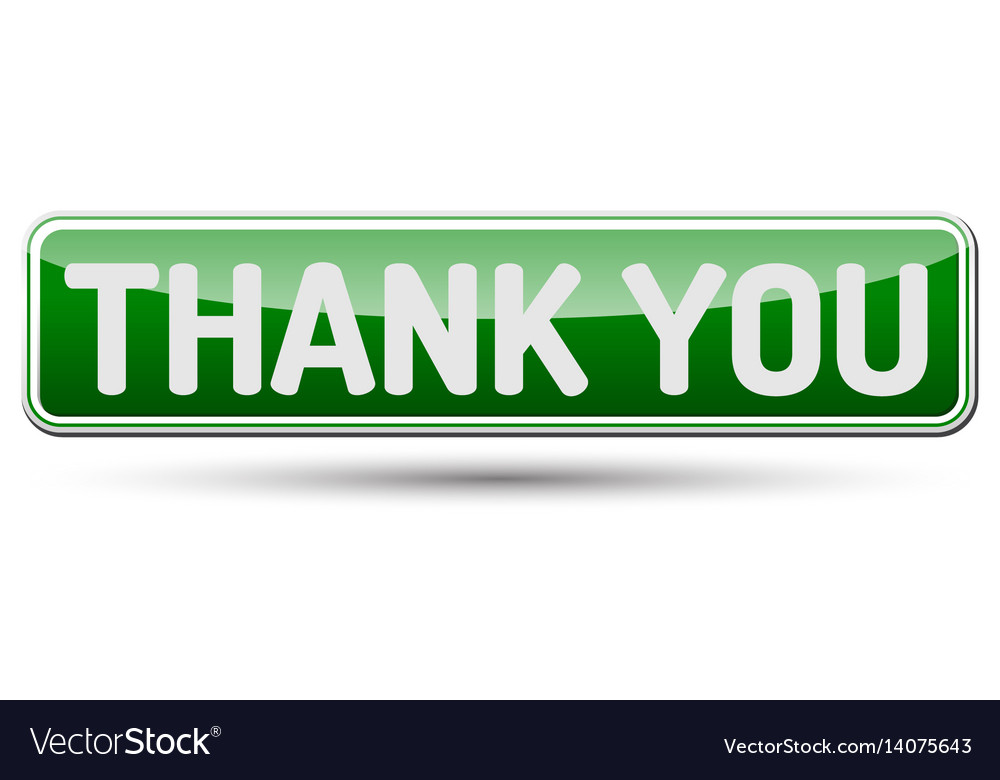 Thank you - abstract beautiful button with text