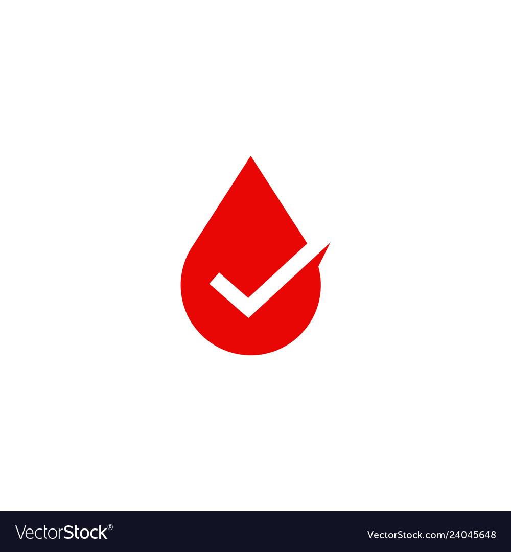 Blood sauce drop check logo icon