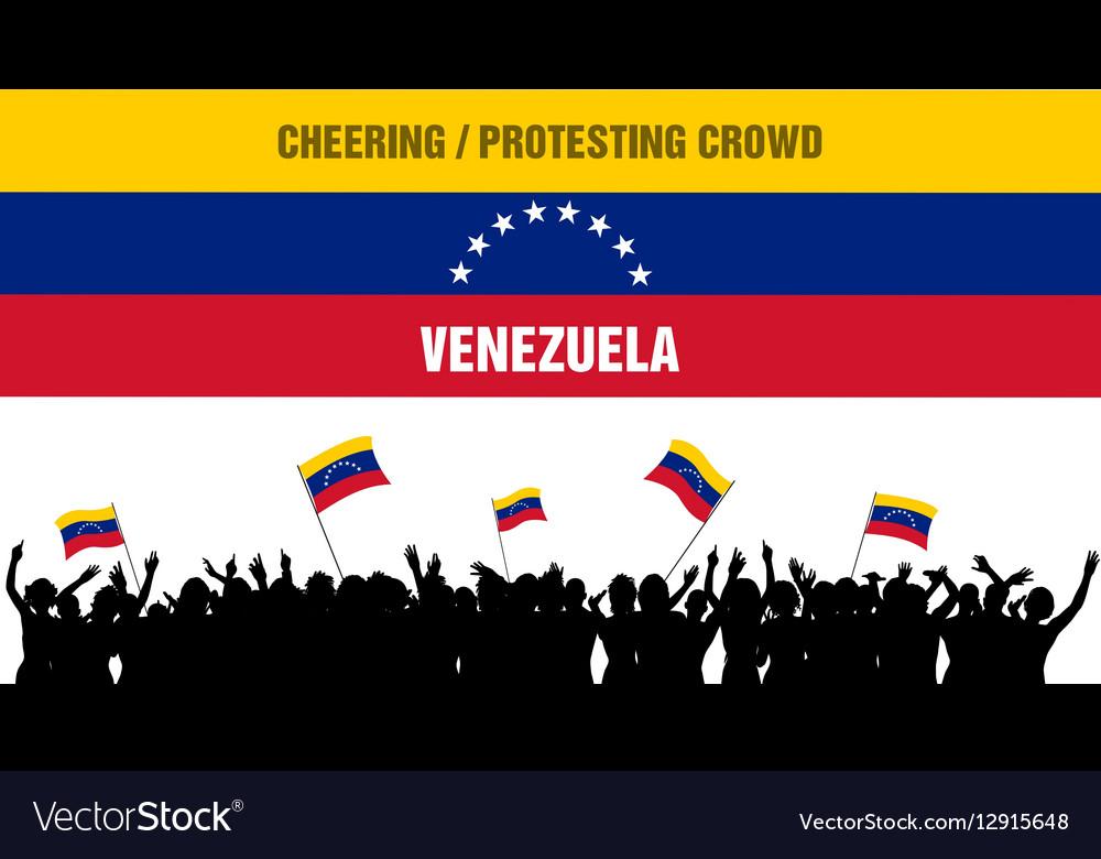 Cheering or Protesting Crowd Venezuela