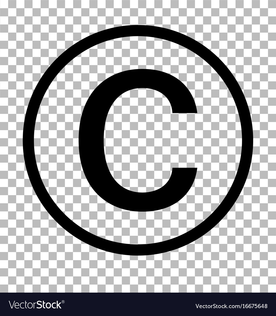 Copyright: Copyright Symbol On Transparent Background Vector Image