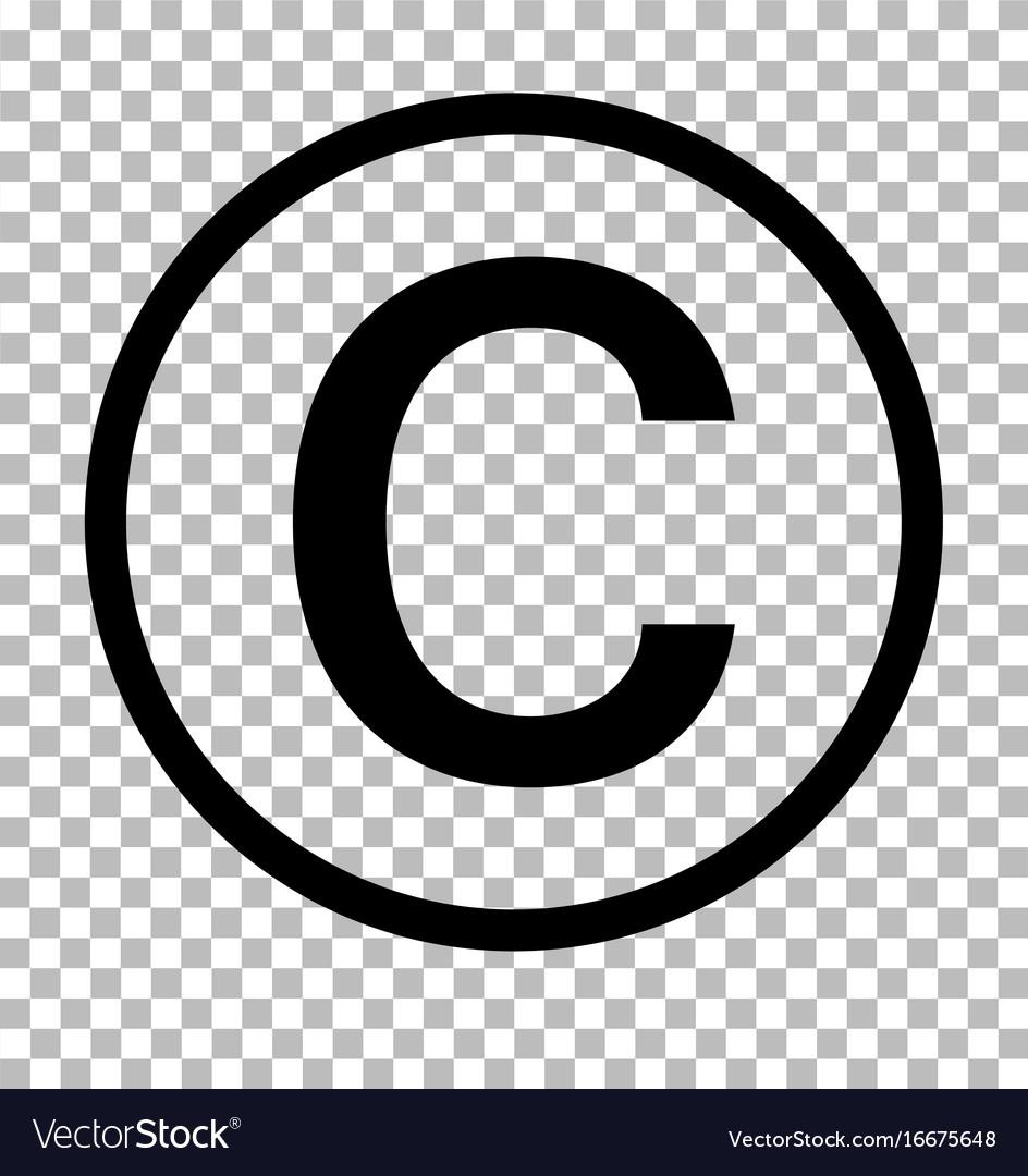 Copyright Symbol On Transparent Background Vector Image