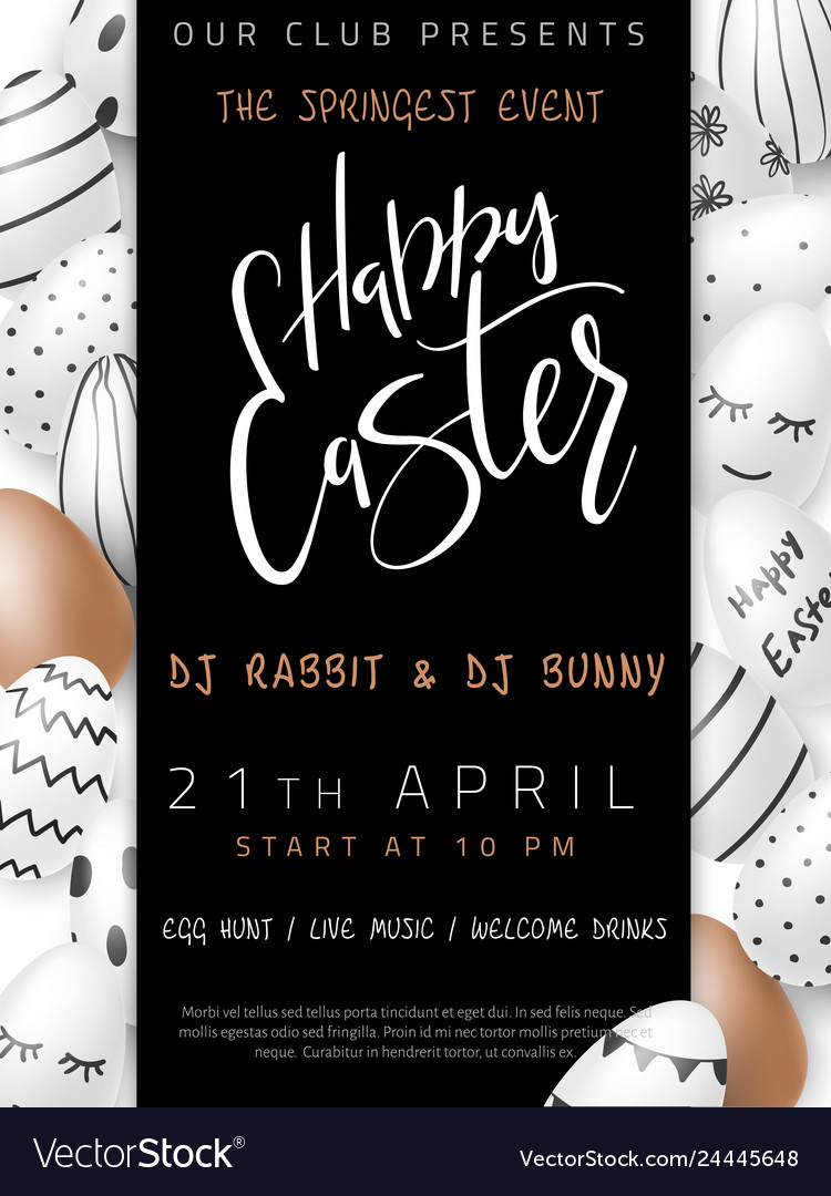 Easter day invitation party