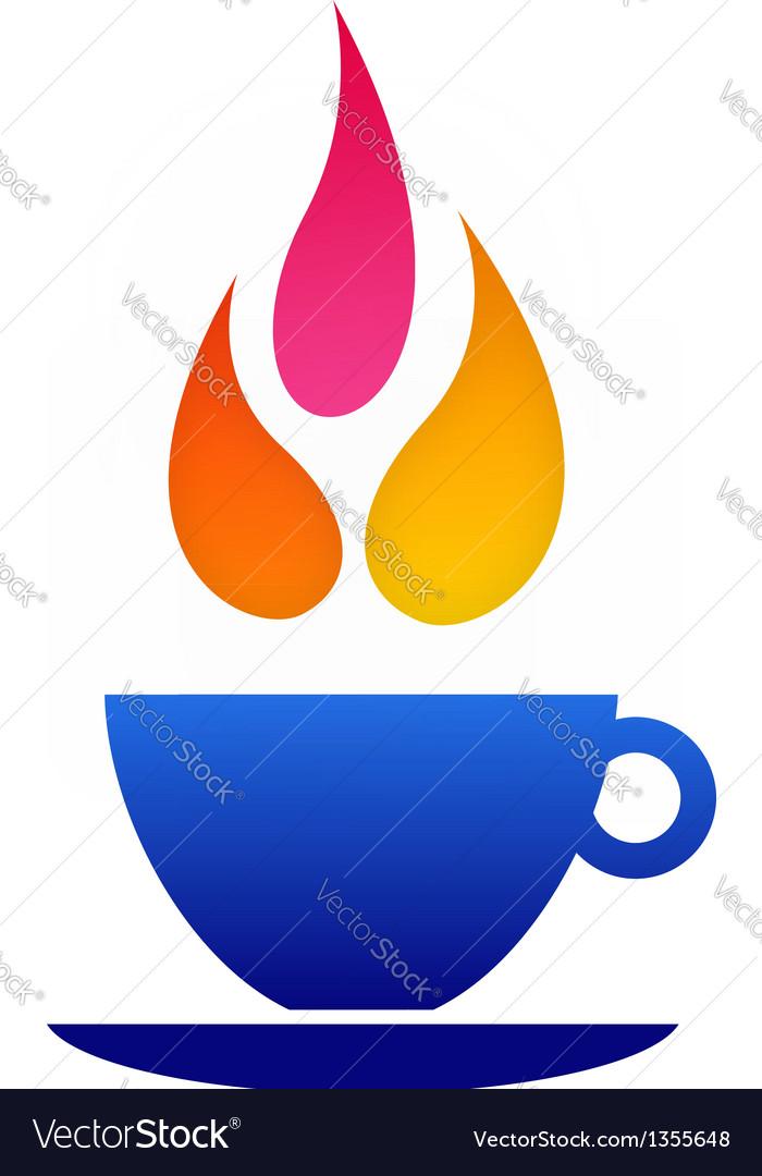 Flame coffee logo