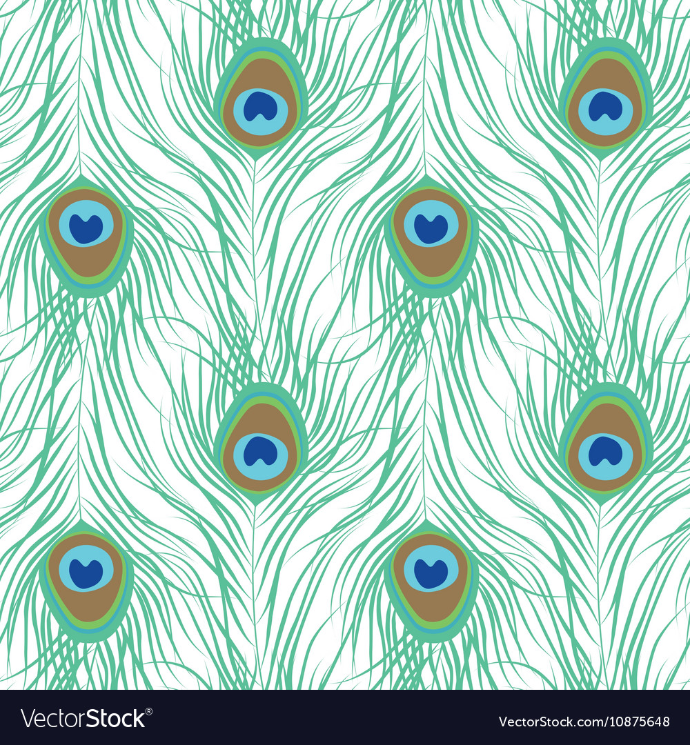 peacock feather seamless pattern royalty free vector image