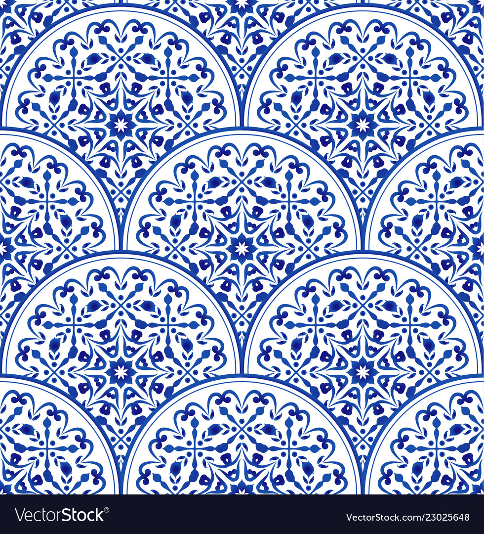 Porcelain blue pattern