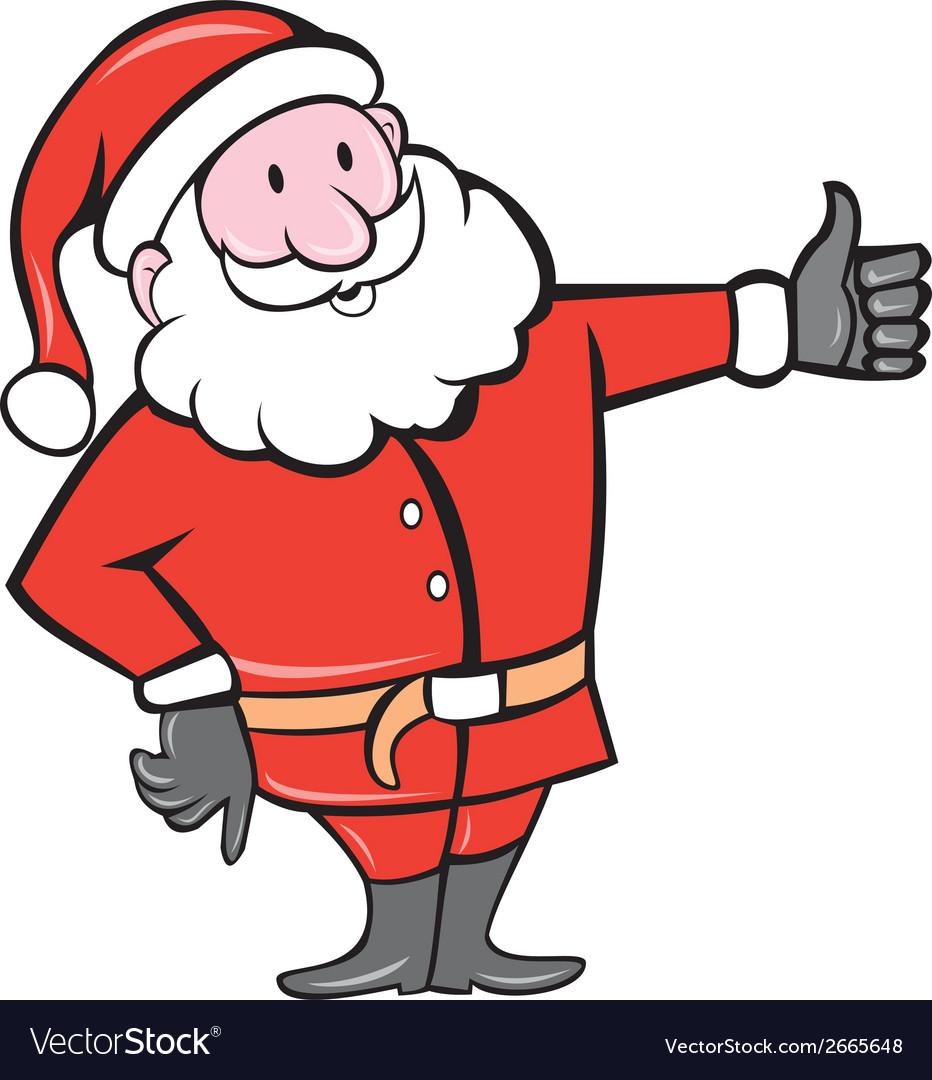 Father Christmas Cartoon Images.Santa Claus Father Christmas Thumbs Up Cartoon