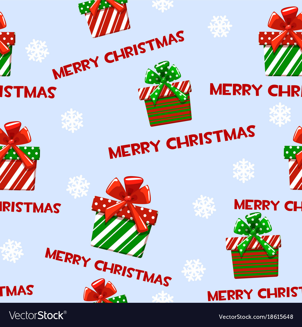 Seamless Pattern With Cartoon Christmas