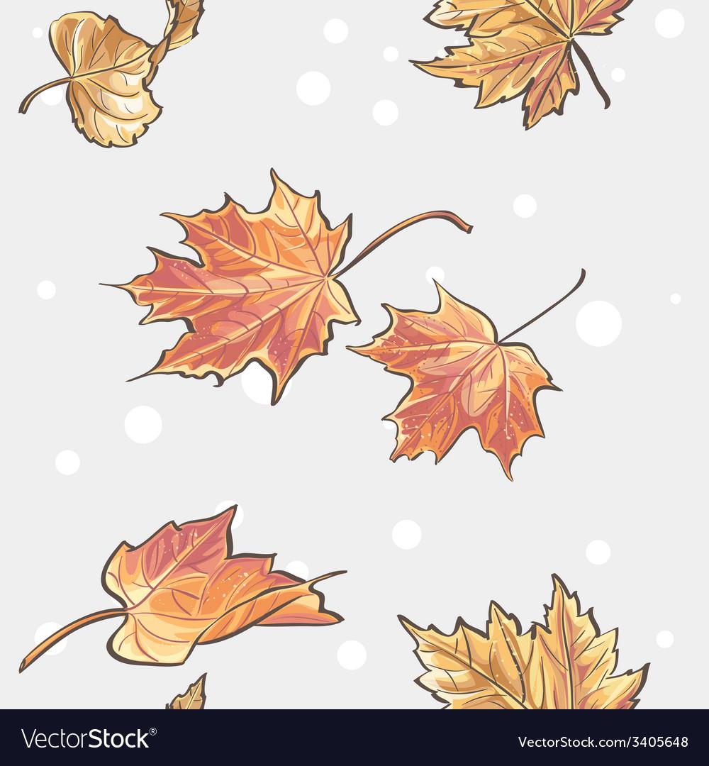 Seamless texture autumn leaves