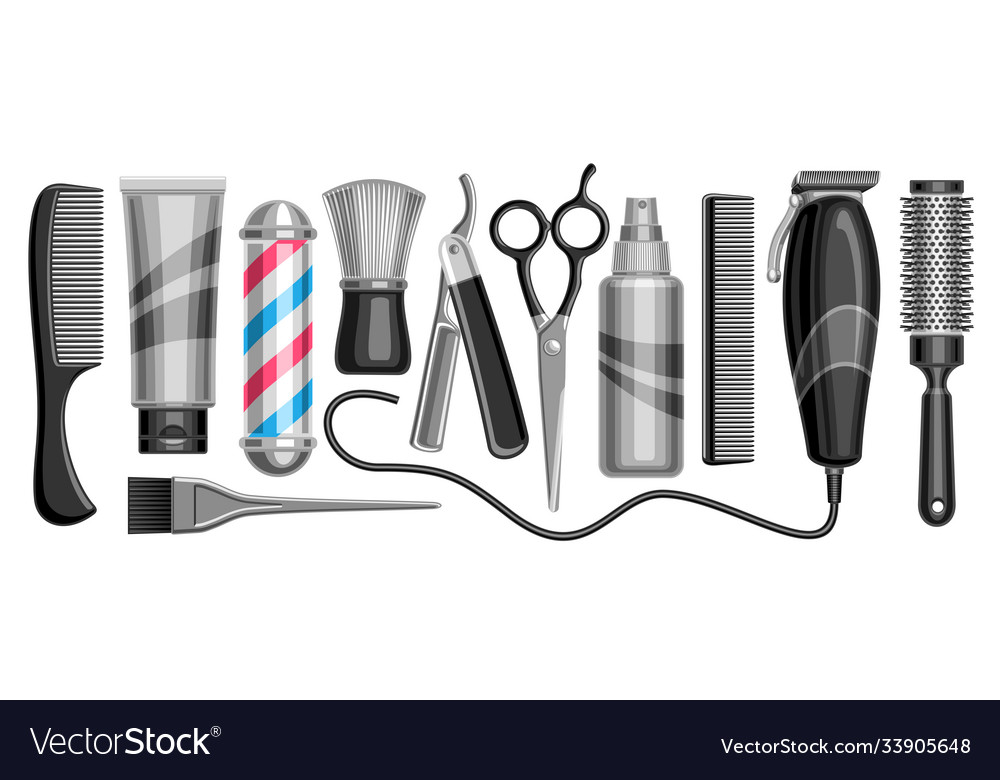Set for hair salon and barbershop