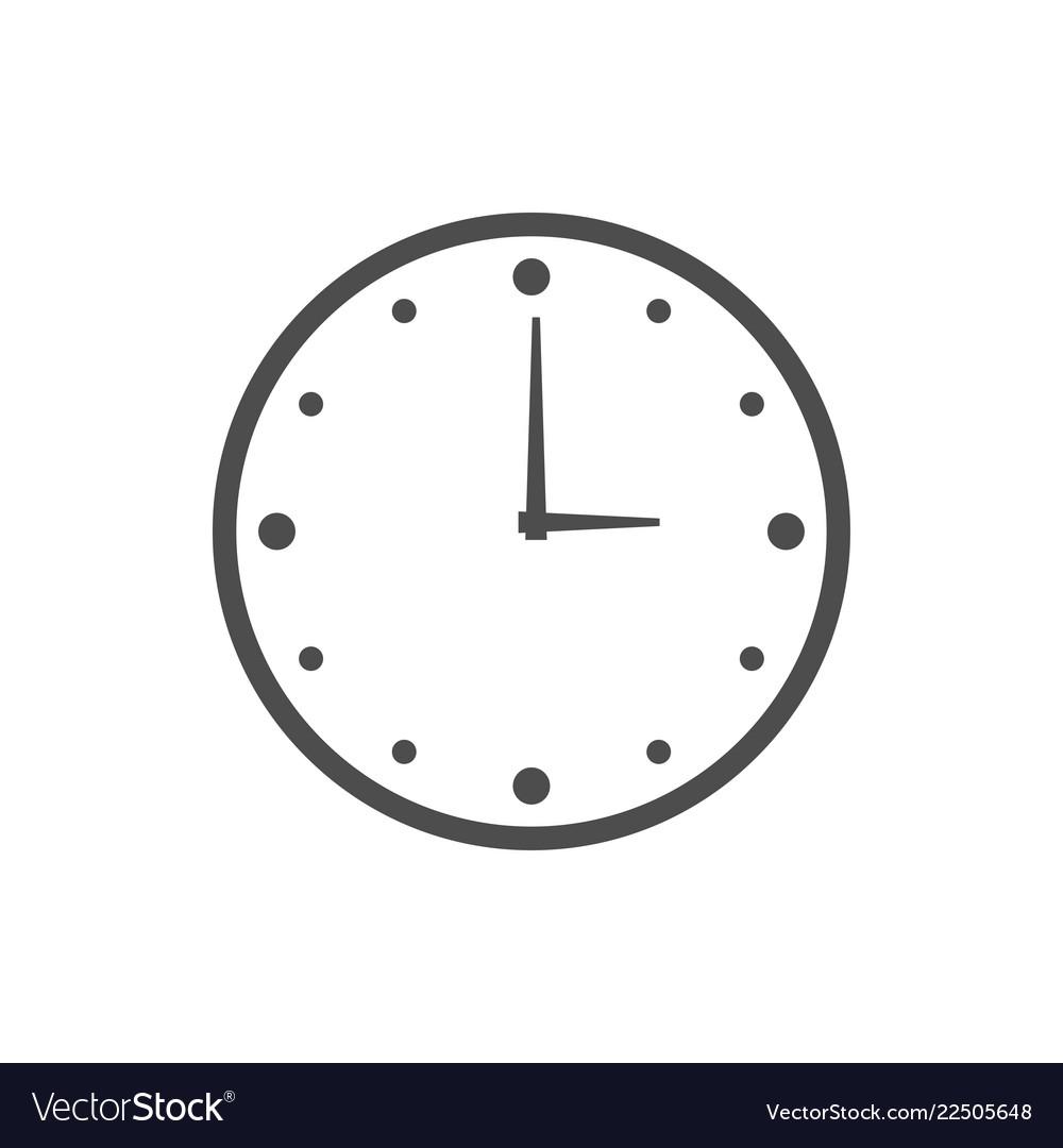 Wall clock logo icon design template