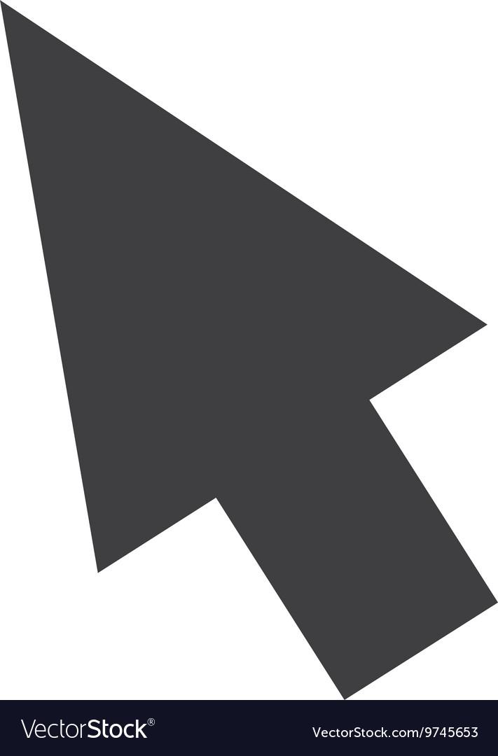 Arrow icon flat symbol