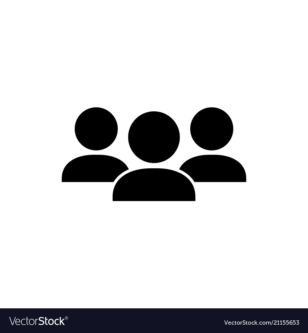Crowd people flat icon