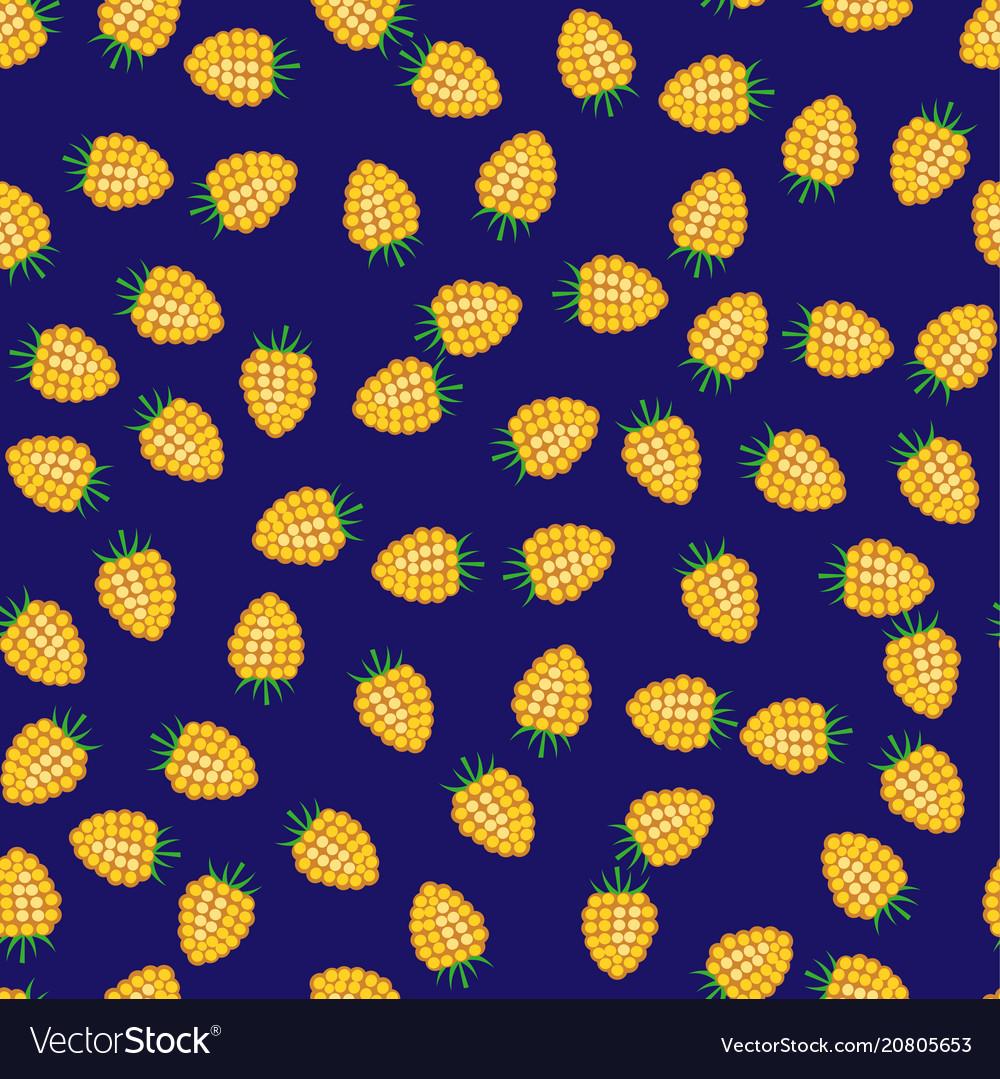 Seamless pattern from raspberry