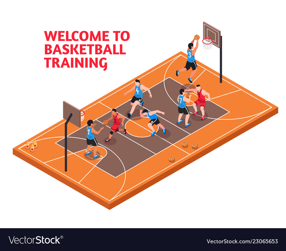 Sport basketball training isometric