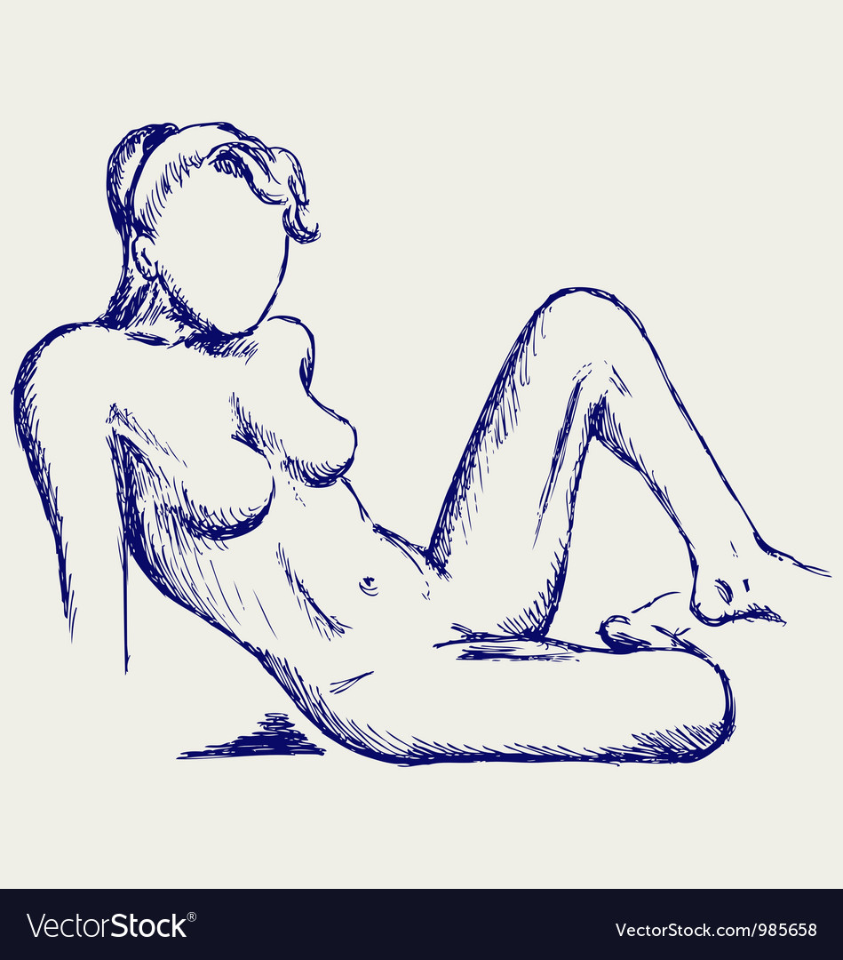 Beautiful young nude woman vector image